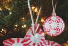 decorazioni per l'albero di Natale con le caramelle