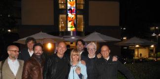 Il contingente Mediaset alla festa presso lo studio della Disney.
