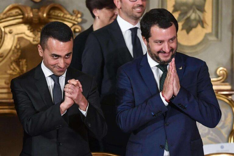 Di Maio e Salvini: due lupi in gabbia