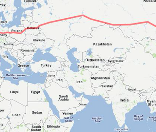 viaggio in treno più lungo del mondo