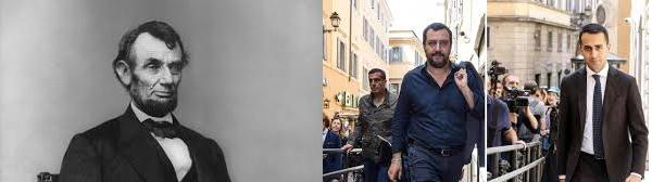 Di Maio Salvini e Abramo Lincoln