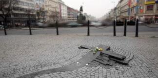Praga: Jan Palach memorial,