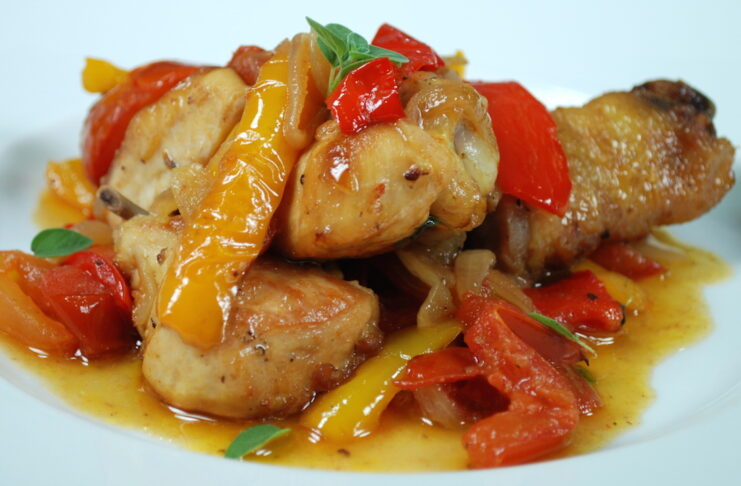 chicken with sweet pepper