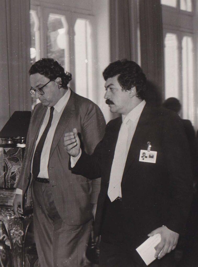 Con Gianni De Michelis, Rimini Centro Pio Manzù