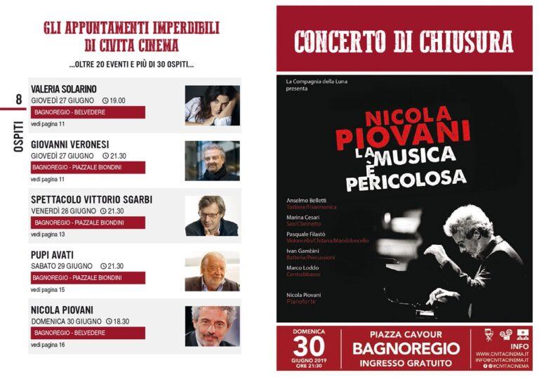 Civita Cinema: da Veronesi a Sgarbi, Pupi Avati e Piovani, svelato il programma completo
