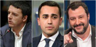 Di Maio, Renzi, Salvini: i tre piccoli birichini