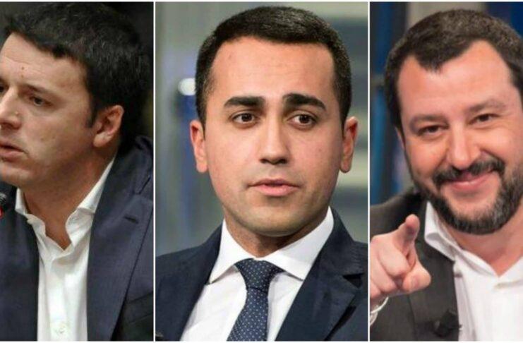 Di Maio, Renzi, Salvini: the three little mischievous ones