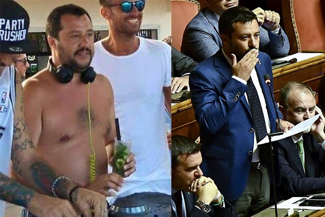 """Il Salvini """"confuso"""" che si voleva bere il Paese e votare un mojito"""
