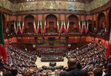 Il Parlamento italiano riunito in seduta comune presso la camera dei deputati