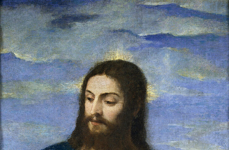 Christ portrait of Titian from 1553 in the Prado Museum