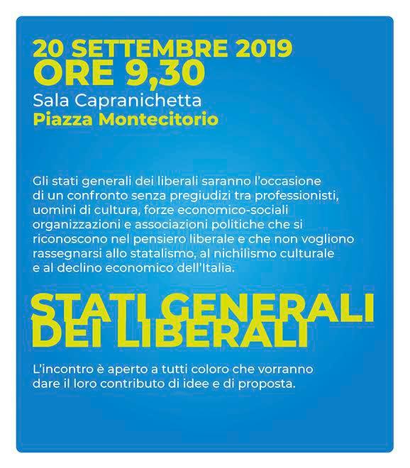 Cinque domande (libere e brutali) ai partecipanti agli Stati Generali dei Liberali Italiani