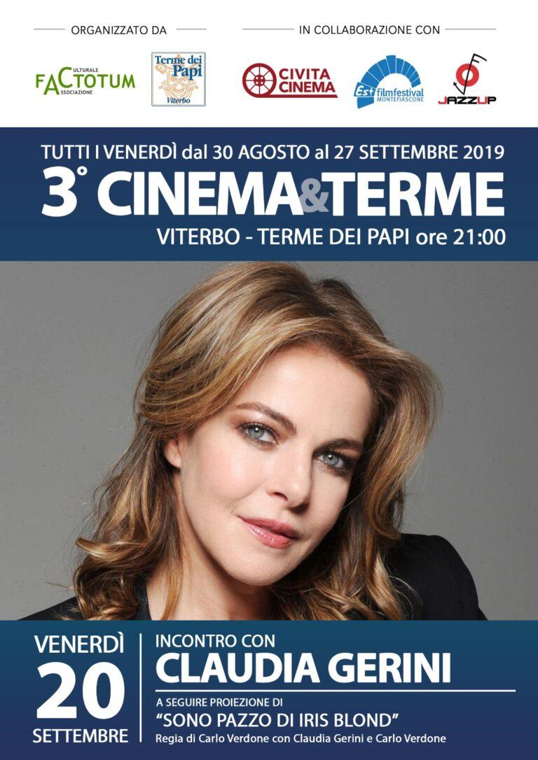 Viterbo, Cinema&Terme ospite Claudia Gerini