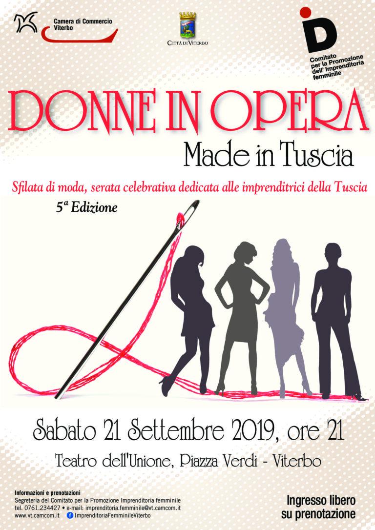 """""""Donne in Opera"""": le creazioni delle imprenditrici della Tuscia"""