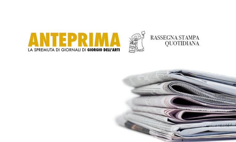 Anteprima, la spremuta di giornali del 06/11/2019