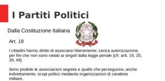 Costituzione italiana partiti politici