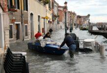 Venezia acqua alta e mose