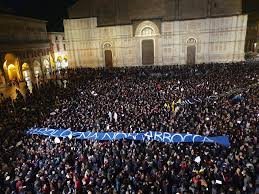 Sardine in piazza a Bologna