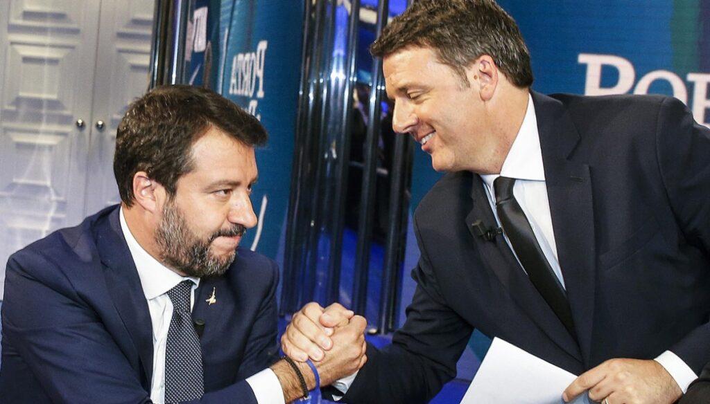 Salvini e Renzi a Porta a Porta