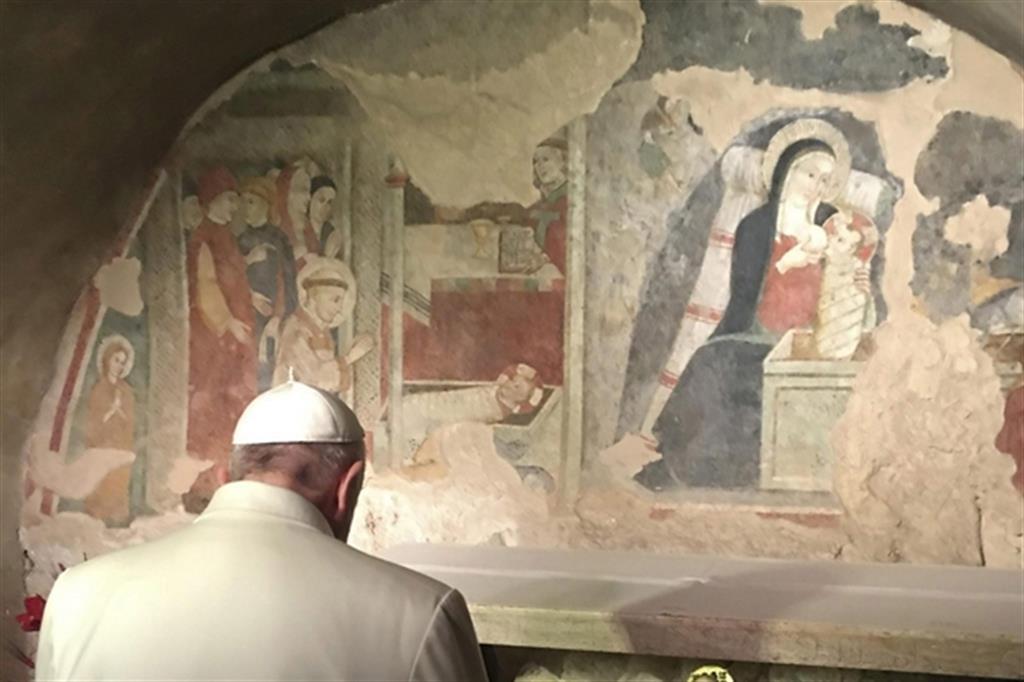 Papa Francesco a Greccio per spiegare il vero significato del presepe