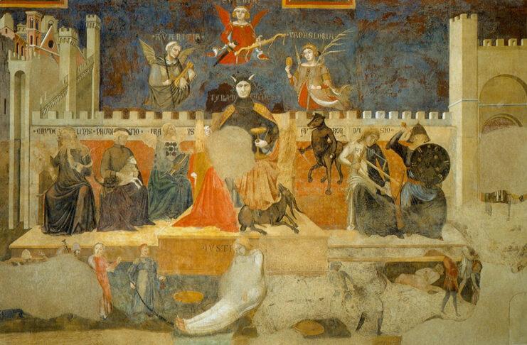 Allegoria del Cattivo Governo. Ambrogio Lorenzetti (1285/90 1348).