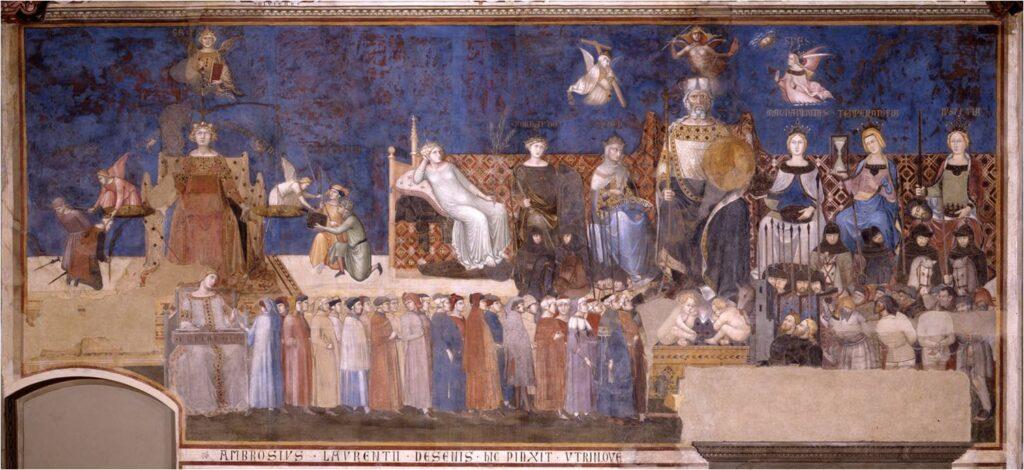 Allegoria del buon governo - Ambrogio Lorenzetti (1285/90 1348).