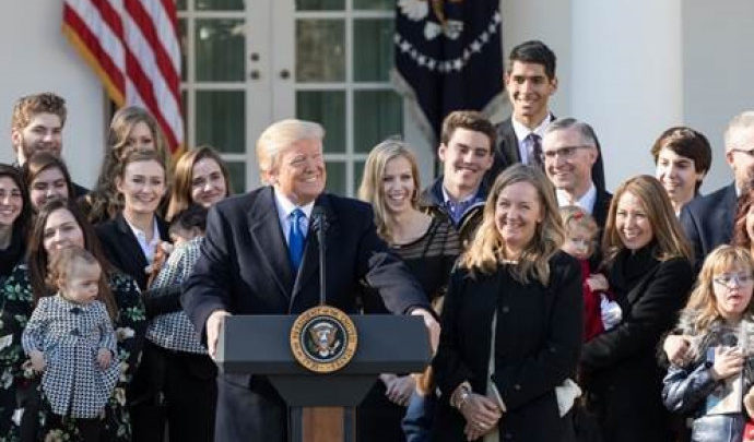 Marcia per la vita 2020, Testo integrale di Trump