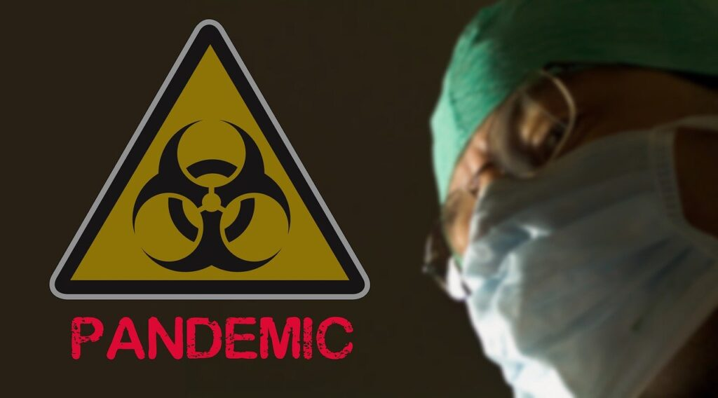 Pandemia. Foto di Tumisu da Pixabay