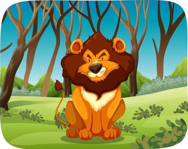 leone nel bosco