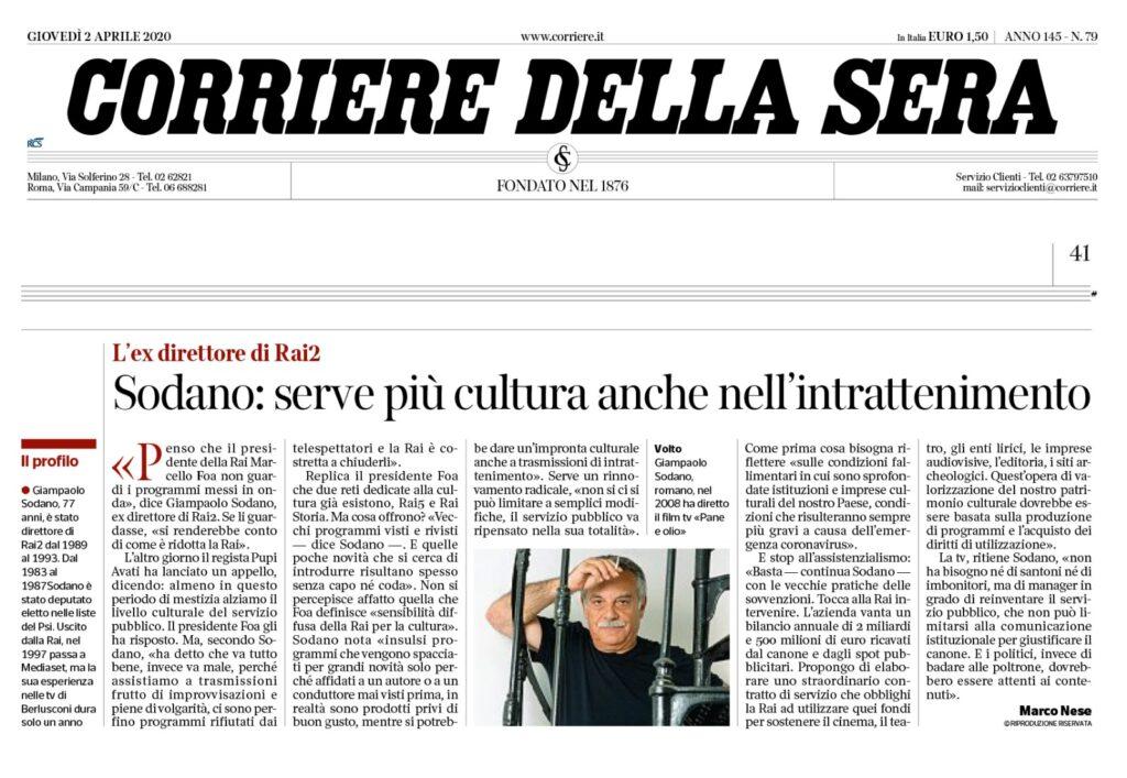 Intervista a Sodano Corriere della sera