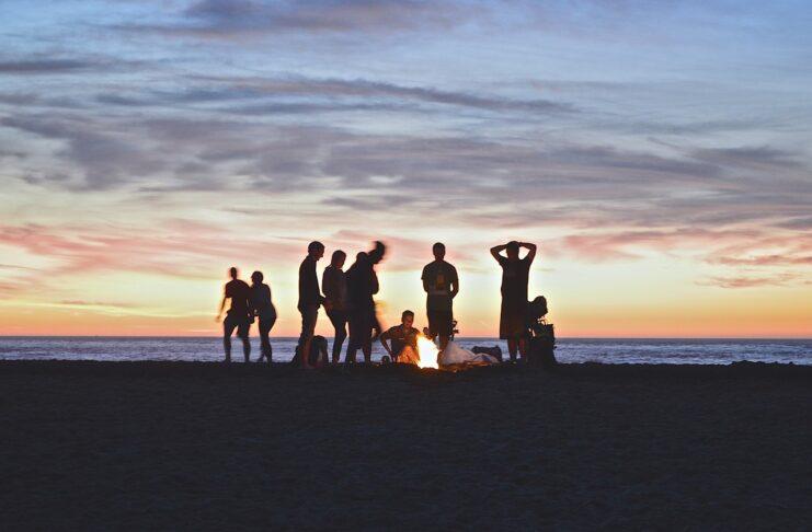 evenings on the beach