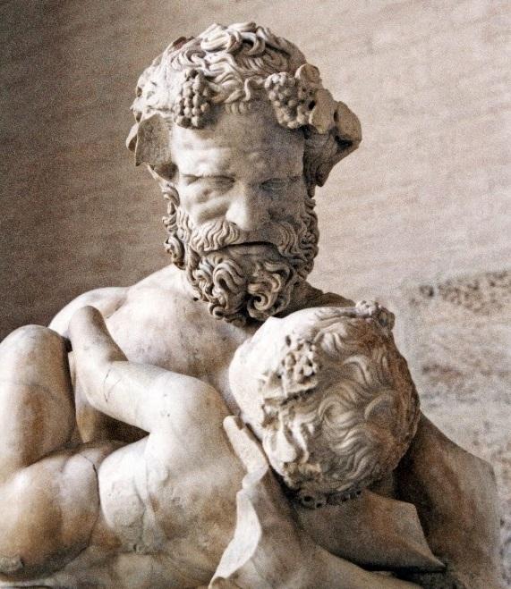 Dioniso bambino allevato dal Sileno.