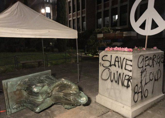 Jefferson statua proteste Floyd