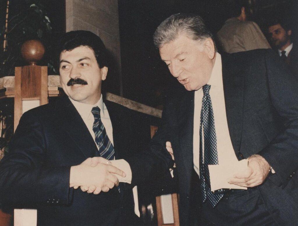 Rolando e Sergio Zavoli (anni 80)