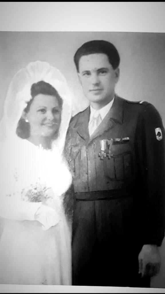 Linda e Valentino sposi a Giulianova -1946