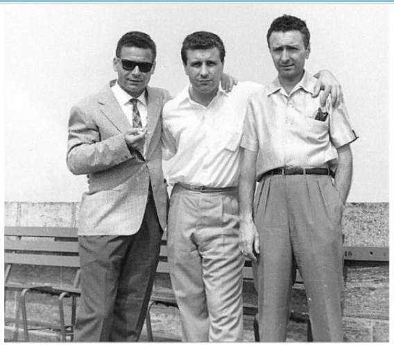 I fratelli Manocchia, da s. a d.: Franco, Benny e Lino