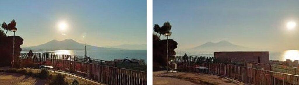Monte Echia prima e dopo