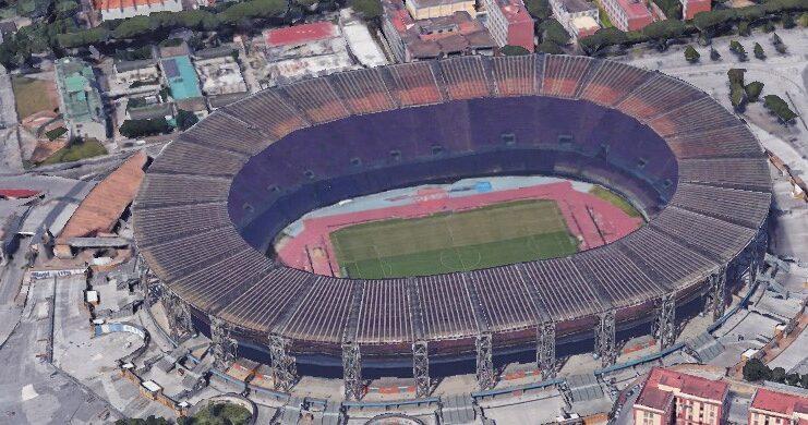 The San Paolo stadium, today Diego Armando Maradona
