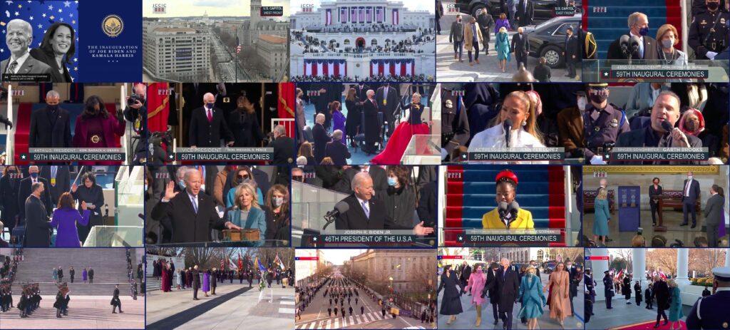 Церемония инаугурации президента Байдена.