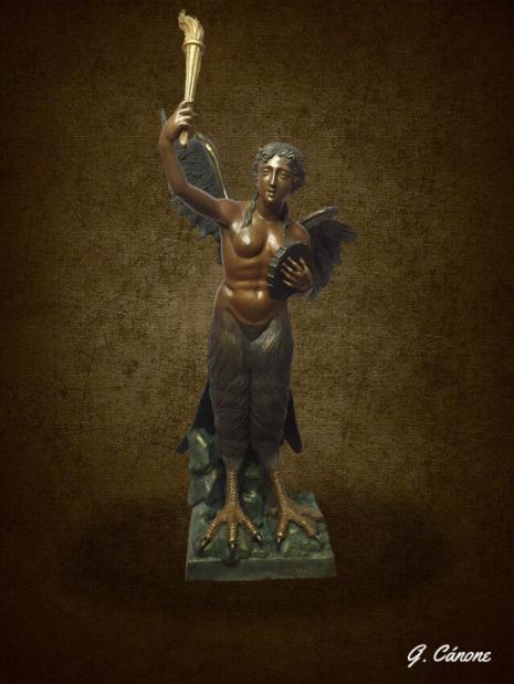 il bozzetto in bronzo dell'opera