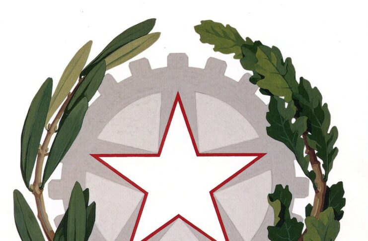 The emblem of the Italian Republic