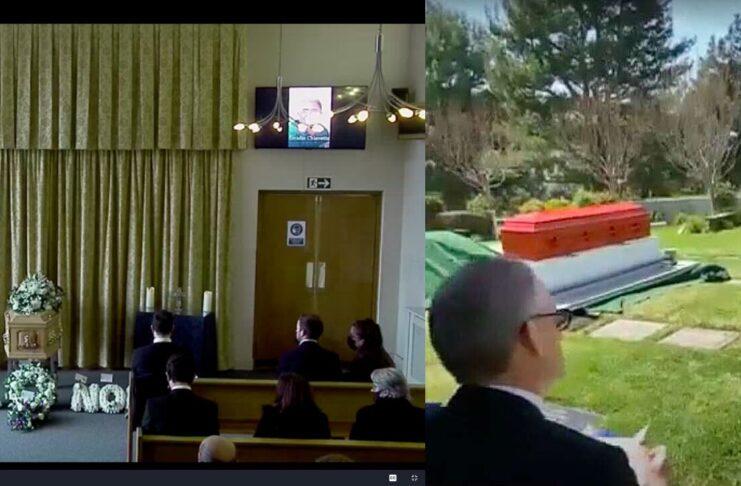 Funeral via Zoom