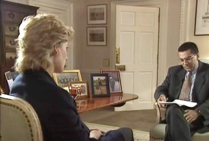 Martin Bashir con la principessa Diana