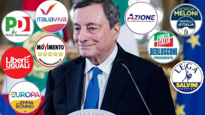Mario Draghi e i partiti politici italiani. Non sono sistemi separati. Il governo può tentare una riforma della politica.